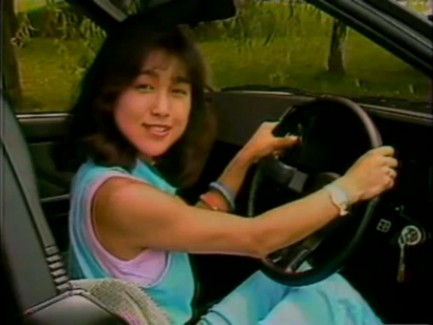 Hot 80s Japanese babe in an AE86!