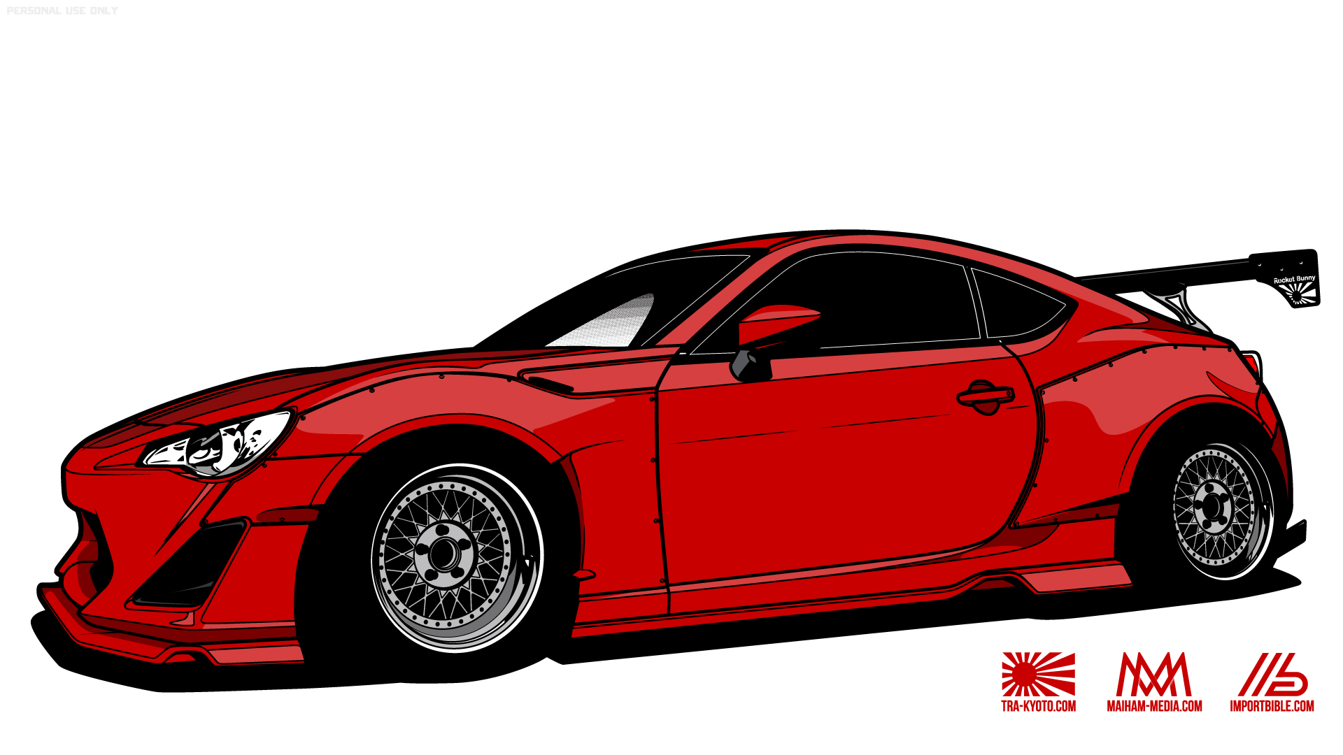 Import Bible Teams Up With Talented Media Group Maiham And Japanese Shop TRA Kyoto To Create High Resolution Wallpapers Of The Popular Wide Body