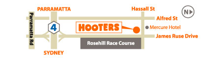 How to get to HOOTERS Sydney